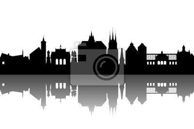 Vinilo Erfurt Skyline abstract