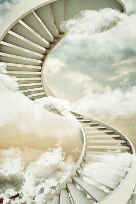 Vinilo escaleras de caracol