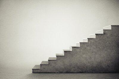 Vinilo Escaleras de hormigón