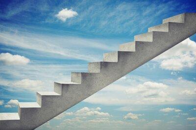 Vinilo escaleras de hormigón sobre el cielo azul