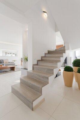 Vinilo Escaleras de madera sin rieles