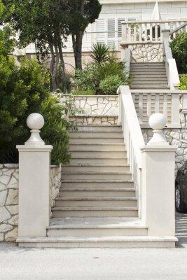Vinilo Escaleras en la isla de Korcula, Croacia