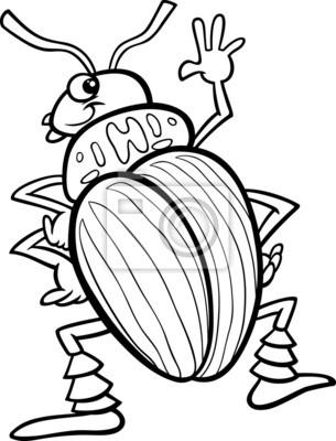 Escarabajo de la papa para colorear de insectos vinilos para ...