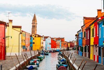 Vinilo Escena de la calle en Burano Italia