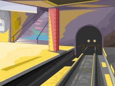 Vinilo Escena del metro