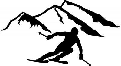 Vinilo Esquí Montañas Run Antecedentes