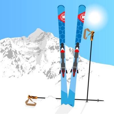 Vinilo Esquí y Snowboard descansan 01