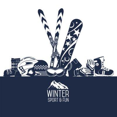 Vinilo Esquiar. Deportes extremos de invierno.