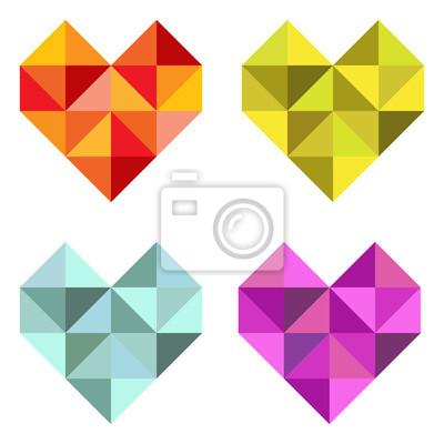 Vinilo Establecer Herzen aus de triángulos