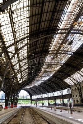 Vinilo Estación de tren Interesante interior foto