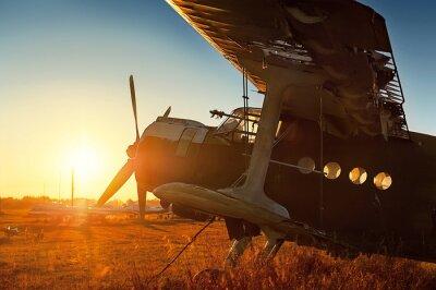 Vinilo Estacionamiento de aviones retro