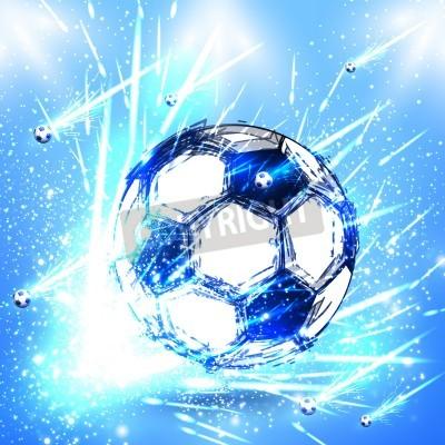 Vinilo estadio de fútbol luz