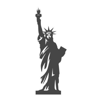 Vinilo Estatua de la Libertad icono - Illustración libre de derechos