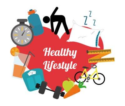 Vinilo estilo de vida saludable