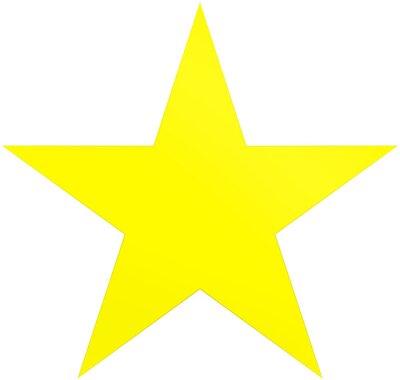 Vinilo Estrella de Navidad amarilla - estrella simple de 5 puntos - aislada en blanco