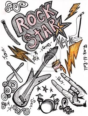 Estrella Del Rock Dibujos Alta Resolución Xxxl Vinilos