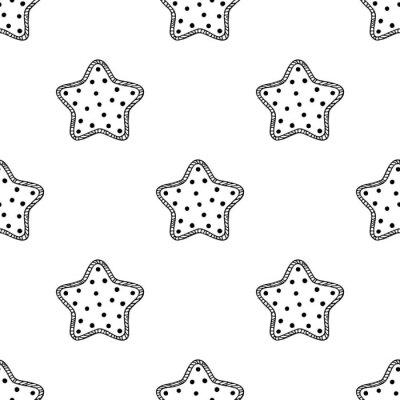 Vinilo Estrellas de madera patrón 2
