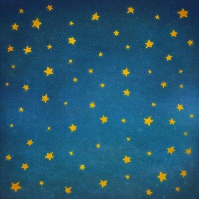 Vinilo Estrellas en el cielo nocturno, ilustración de fondo de arte