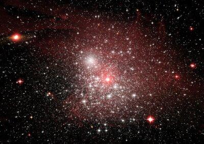 Vinilo Estrellas, polvo y nebulosa de gas en una galaxia lejana