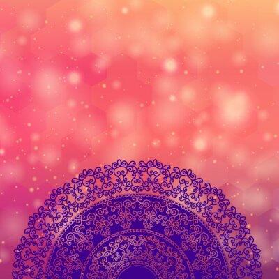 Vinilo Ethnic & Colorful Henna Mandala design, very elaborate and easily editable