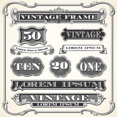 Vinilo Etiquetas, marcos y adornos del vintage