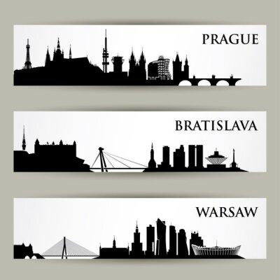Vinilo Europa central ciudades horizonte