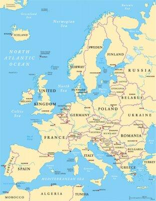 Vinilo Europa Mapa Político