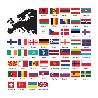 Vinilo Europe flags