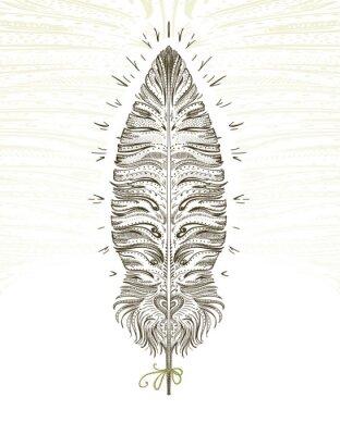 Vinilo Feather ornamental symbol