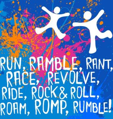 Vinilo figuras activas texto motivacional serie de carteles de fitness