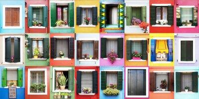 Vinilo Finestre colorate di Burano