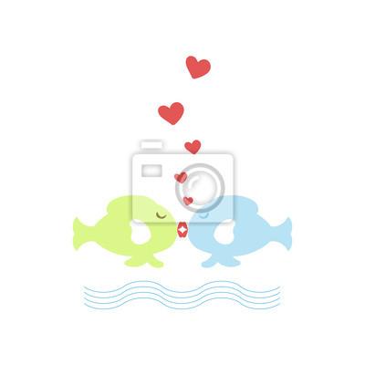 Vinilo Fish Kissing