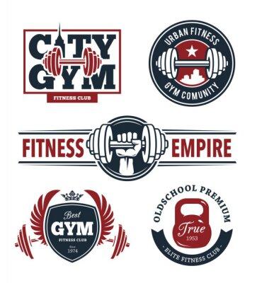 Vinilo Fitness Emblems Set