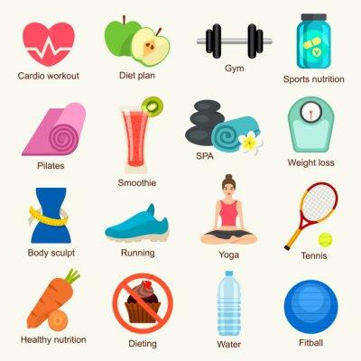 Vinilo Fitness Icon Set