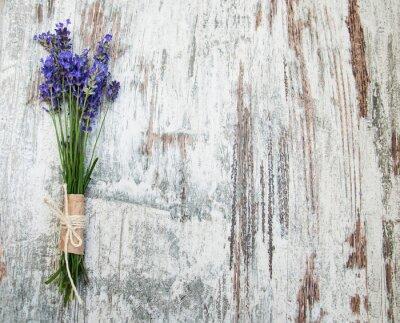 Vinilo flores de lavanda
