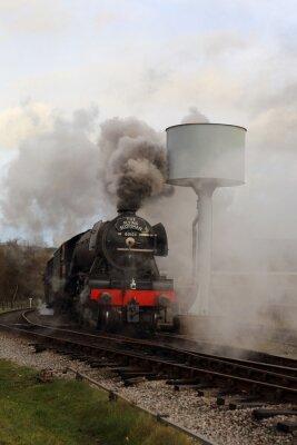 Vinilo Flying Scotsman con vapor y humo.