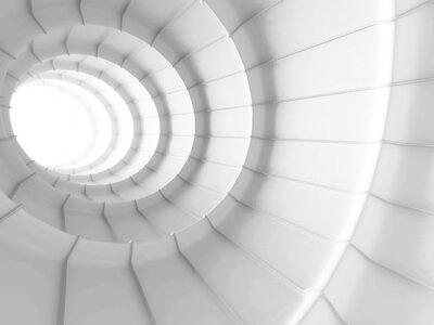 Vinilo Fondo abstracto del diseño del túnel del blanco