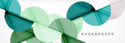 Vinilo Fondo abstracto geométrico moderno - círculos. Plantilla de diseño de presentación de negocios o tecnología, patrón de folleto o folleto, o banner web geométrico