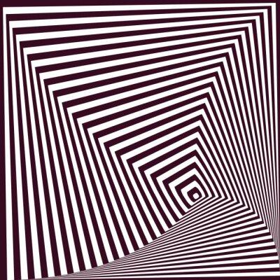 Vinilo Fondo abstracto rayado piramidal simple. Ilusión óptica t