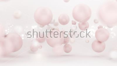 Vinilo Fondo blanco brillante con globos. 3d ilustración, representación 3d