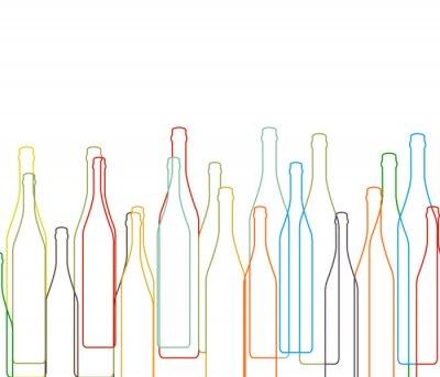 Vinilo Fondo con botellas ajustado