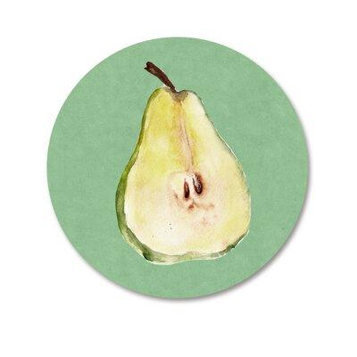 Vinilo Fondo con las frutas. Ilustración de la acuarela