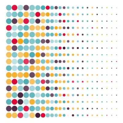 Vinilo Fondo con los círculos de puntos de colores en un vector