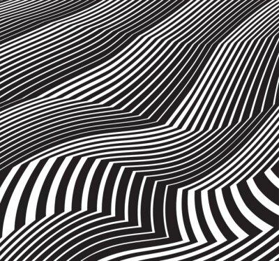 Vinilo Fondo de arte óptico resumen de imágenes en blanco y negro de greyscale