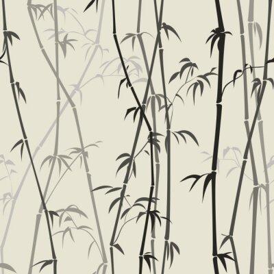 Vinilo fondo de bambú