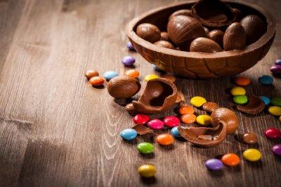 Vinilo Fondo de chocolate de Pascua