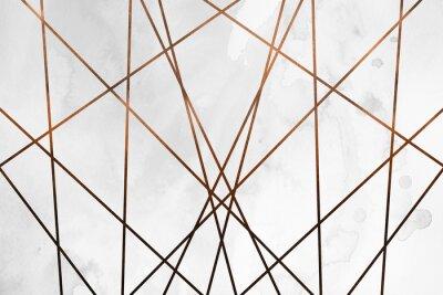 Vinilo Fondo de cobre cremoso contemporáneo moderno. Textura de niña de lujo. Delicioso y limpio telón de fondo con elementos geométricos y artísticos.
