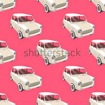 Vinilo Fondo de coches Vector de coche retro