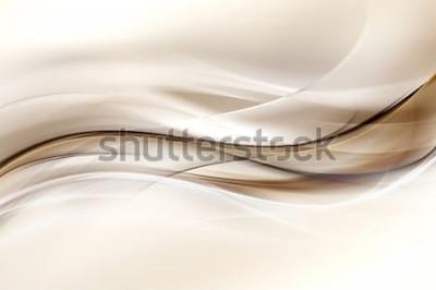 Vinilo Fondo de diseño abstracto ola marrón