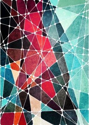 Vinilo Fondo de grunge geométrica abstracta